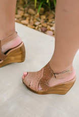 Very Volatile Bolanos Wedge Sandal with Stitch Detail