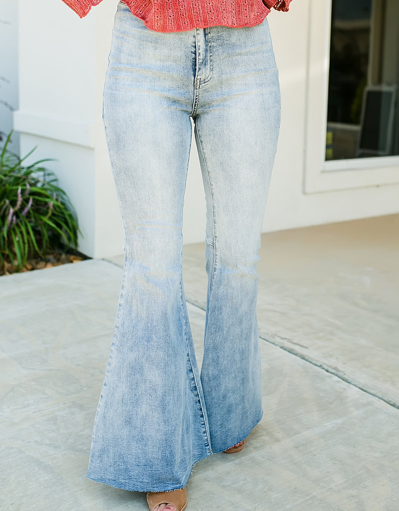 Denim High Rise Flare