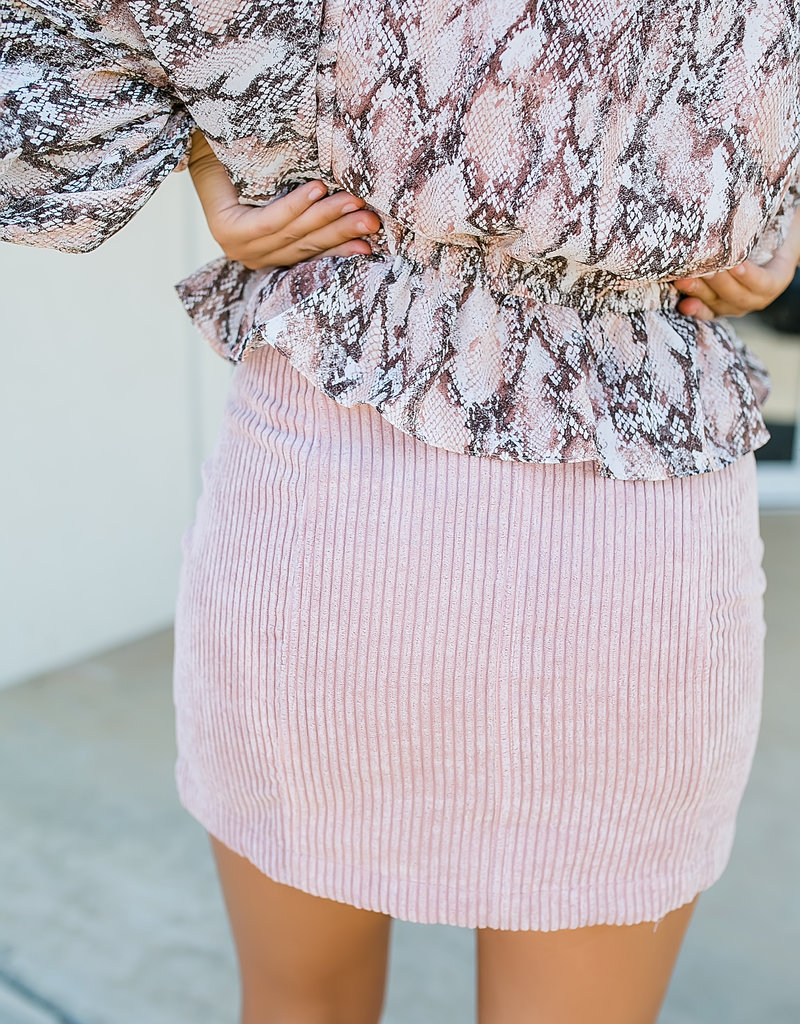 HYFVE Mauve Corduroy Skirt