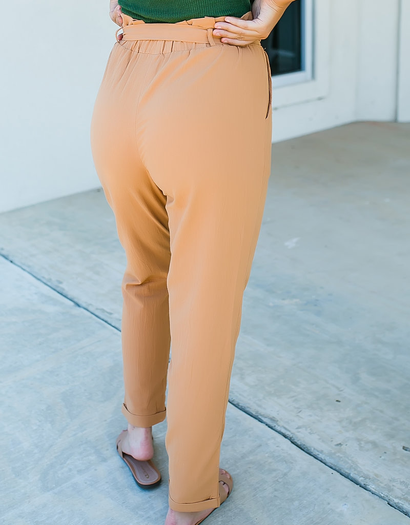 Camel Paperbag pants