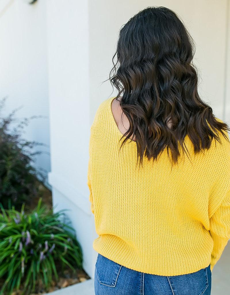 MainStrip Mustard Twist Sweater