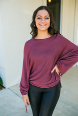 HYFVE Red Brown Cropped Sweater