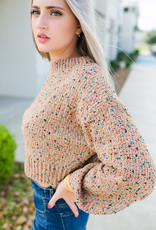 HYFVE Camel Multi Sweater with Sparkle Threading