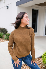 RD USA International Dark Pecan Mock Turtle Neck Sweater