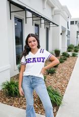 Geaux LSU Sequin Jersey Tee