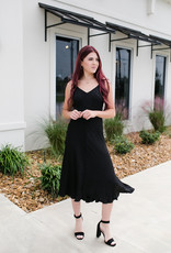 BTFL LIFE Black Jacquard Maxi Dress