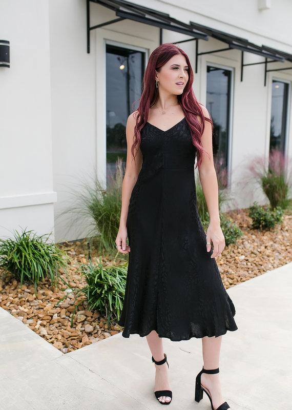 BTFL LIFE Black Jacquard Maxi Dress