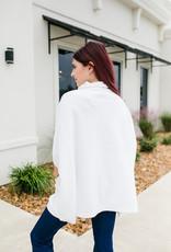 RD USA International Winter White Poncho