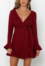 One and Only Collective Inc Wine Sweater Dress