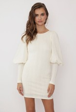 One and Only Collective Inc Cream Mini Sweater Dress