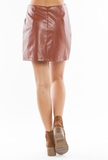 Camel Vegan Skirt with Knot detail