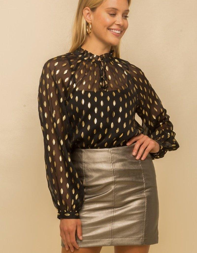 Hem & Thread Black/Gold Blouse