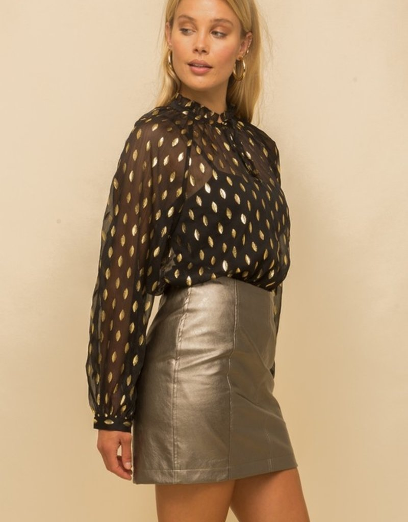 Hem & Thread Black/Gold Blouse