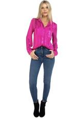 BTFL LIFE Hot Pink Jacquard L/SLV Shirt