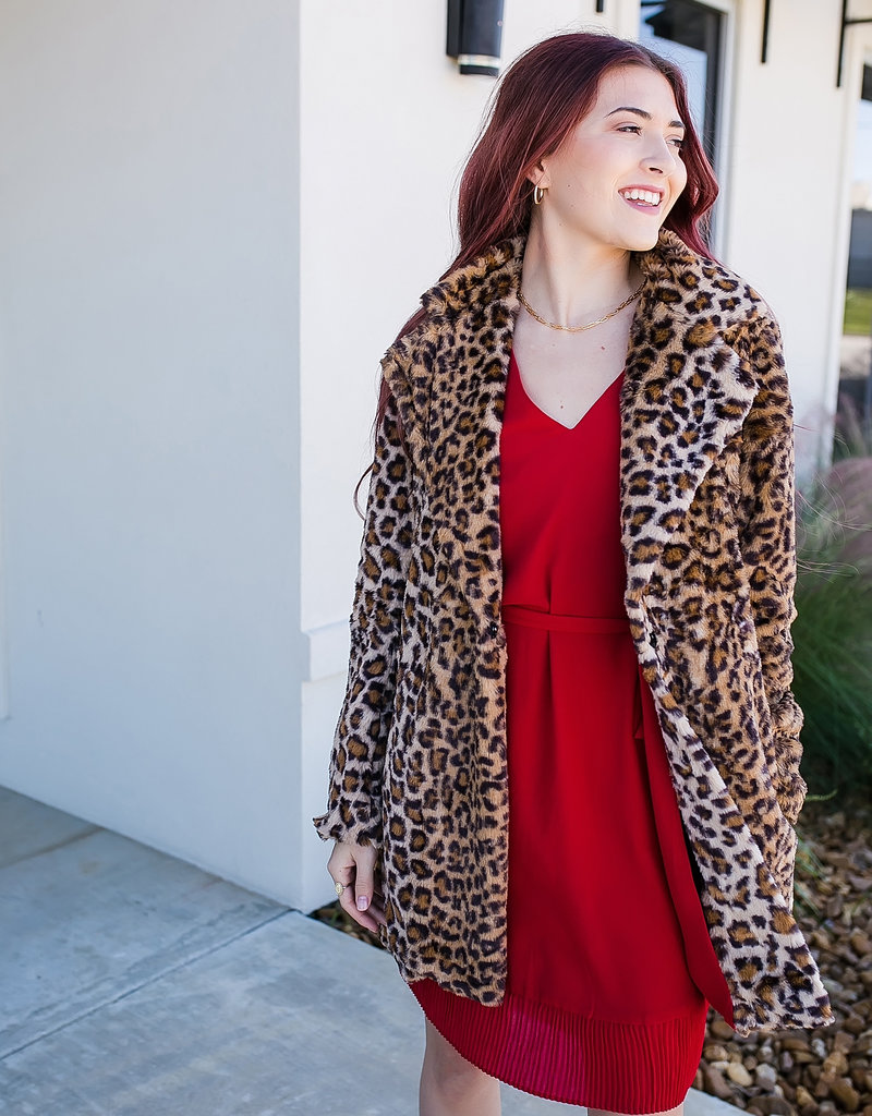 Crimson Shift Dress