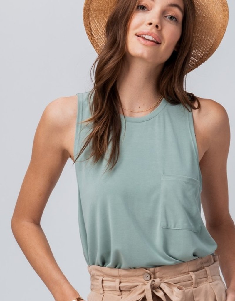 Trend:Notes Basic Sleeveless Tank with Frocket
