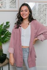 Trend:Notes Corduroy Oversized Buttondown Shirt Jacket