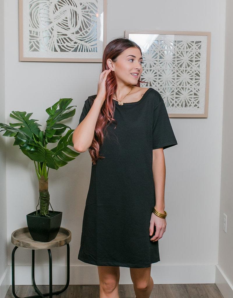 HYFVE Round Neck T-Shirt Dress