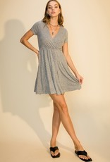 HYFVE Short Sleeve Surplice Knee Dress