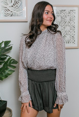TCEC Leopard Mock Neck Top