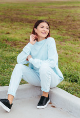 Trend:Notes Dye Washed Two Toned SweatShirts