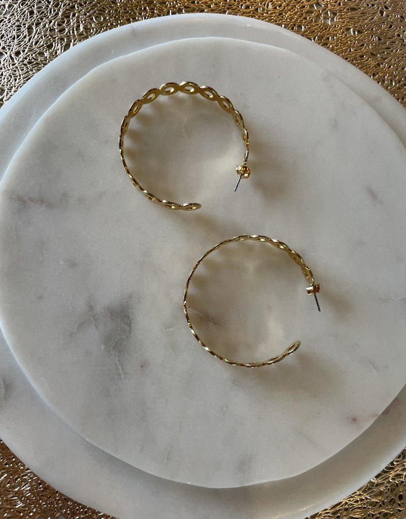 Circle Chunky Hoops