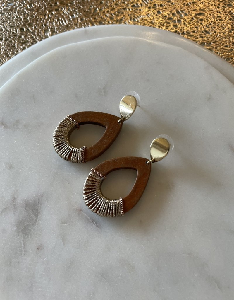 Nakamol Chicago Wood Tear Drop Earring
