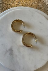 "Shiny Gold Hoop 1.5"" Earring"