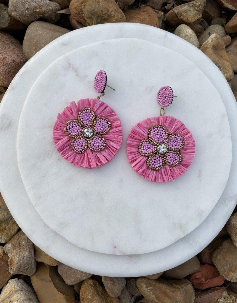 Hannah's  Paper Beaded Flower Earrings