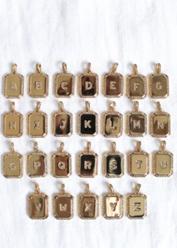 Kinsey Designs Inital Tile Necklaces