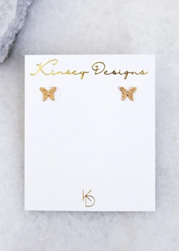 Kinsey Designs Fleur Butterfly Stud