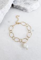 Kinsey Designs Marly Bracelet Chain w/Pearl Charm