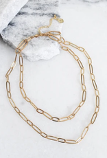 Kinsey Designs Sutton Oval Chain Double Layer Necklace