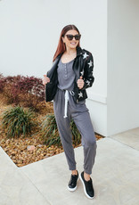 Sleeveless Grey Jumpsuit