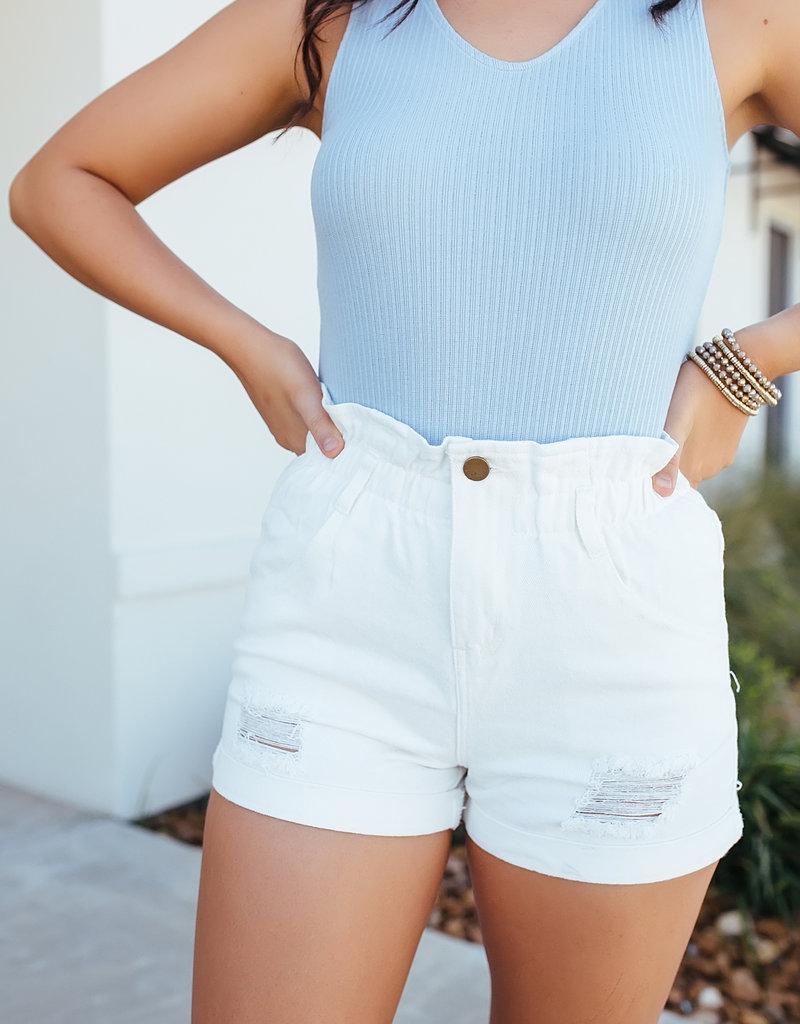 HYFVE Paperbag Denim Shorts