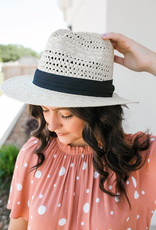 urbanista Panama Hat with Black Ribbon