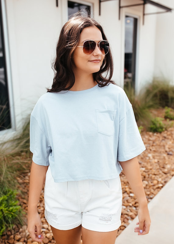 HYFVE Basic Crop T-Shirt with Frocket