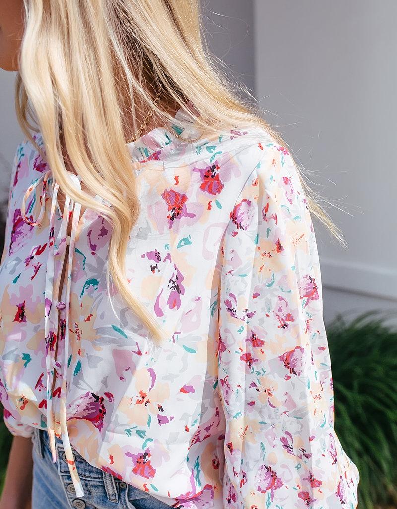 Shiying Fashion Multicolor Cakewalk Floral Smocked Blouse