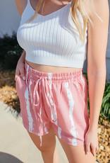 Shiying Fashion Tiedye Drawstring Casual Shorts