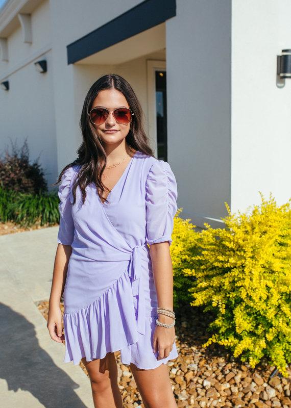 Lavender Wrap Dress