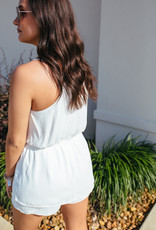 Off-White Romper with Twist Detail