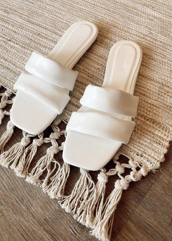 CCOCCI White Double Strap Sandal