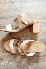 Triple Band Slide Sandal Blush/Multi