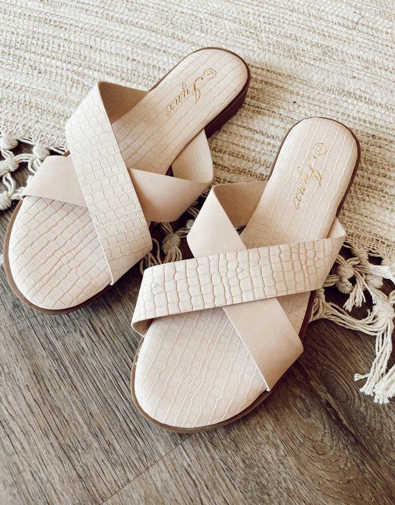 Redshoelover Mauve Criss-Cross Sandal