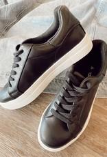 Soda Black Hoodie Platform Sneaker