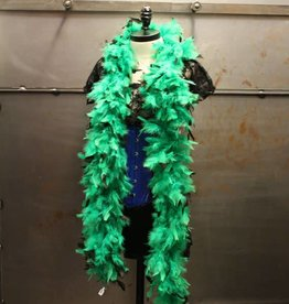 BP Feather Boa 6 ft. Green & Black