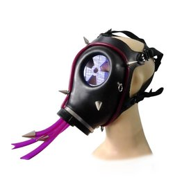 SOL Cyber Gas Mask with Radiation Lenses & UV Tubing