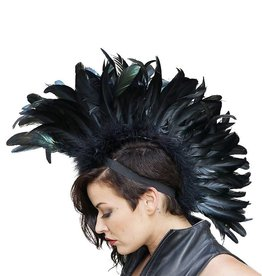 ZFP Feather Mohawk Iridescent Black