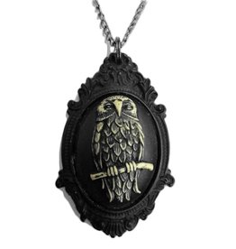 SOL Owl Resin Cameo Necklace
