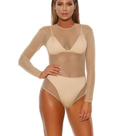 FOR Long Sleeve Micro Net Bodysuit